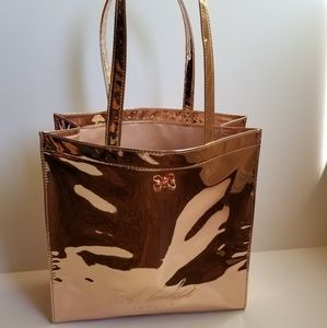 Ted Baker Jencon Mirrored Tote Rose Gold Large